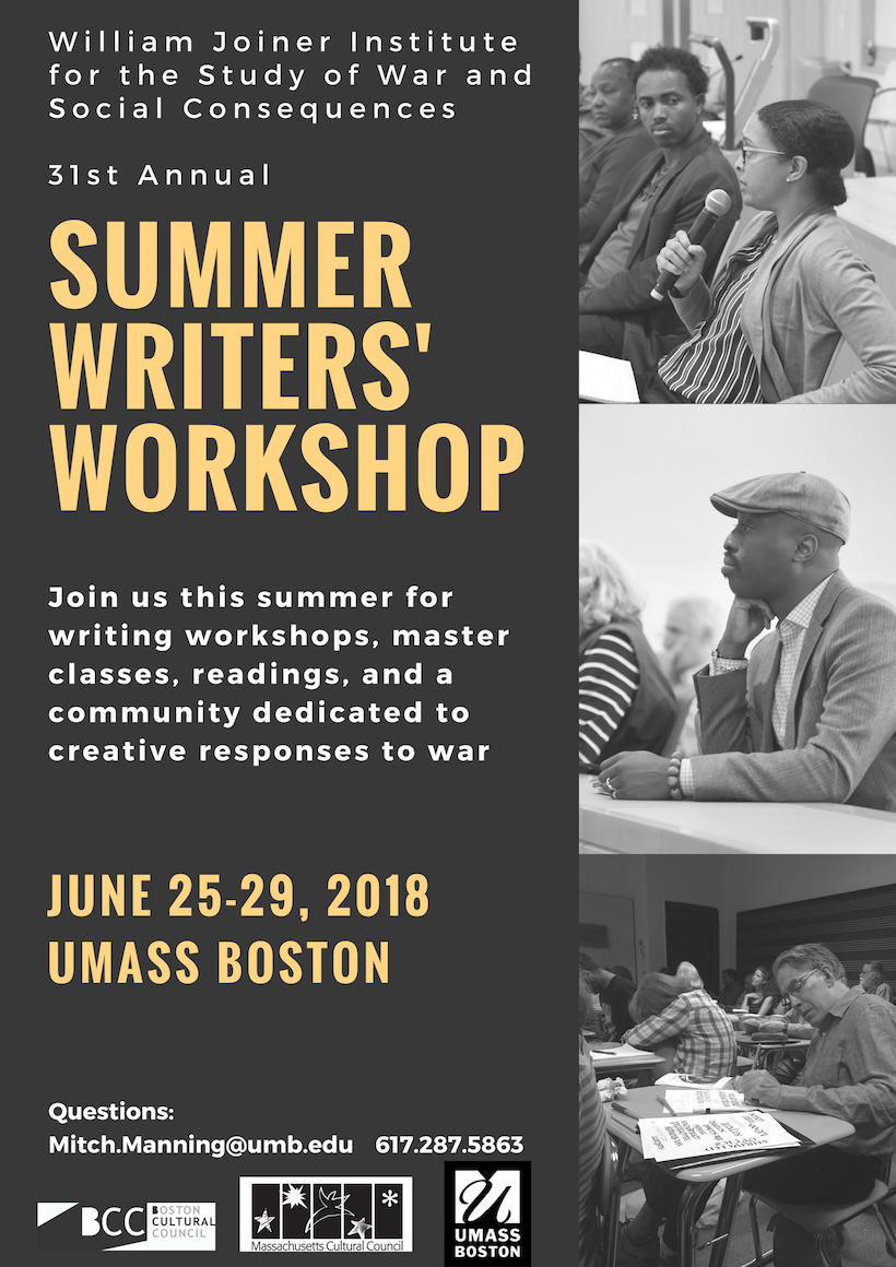 2018 Writers' Workshop flyer