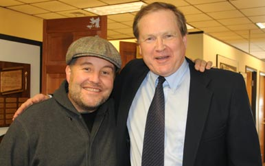Dropkick Murphys frontman Ken Casey and William Joiner Institute Director Thomas Kane.