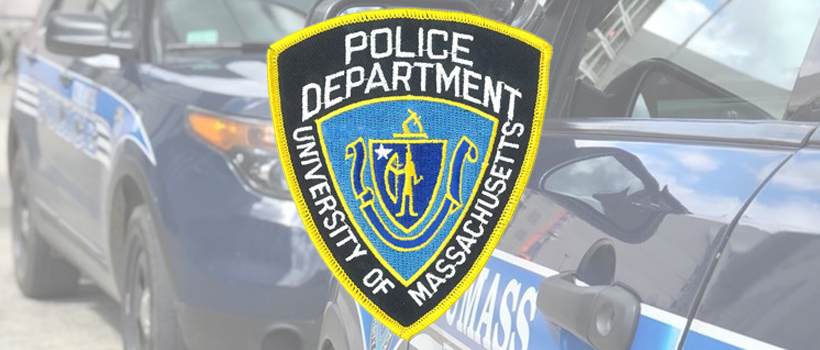 UMass Boston Police Department Patch and Squad Cars