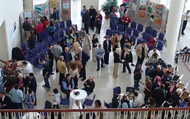 Beautiful views make the UMass Boston Campus Center a perfect spot for your next event or meeting. Photo copyright Peter Shmiro, 2005.