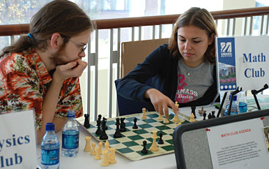 The Student Arts & Events Council has been involved in planning UMass Boston Opening Week activities for several years. Photo copyright Peter Shmiro, 2007.