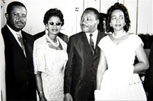 Picture of Juanita Jones Abernathy and Martin Luther King, Jr.