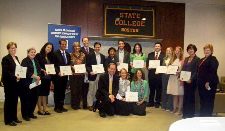 Public Affairs honor society ceremony at McCormack Grad School