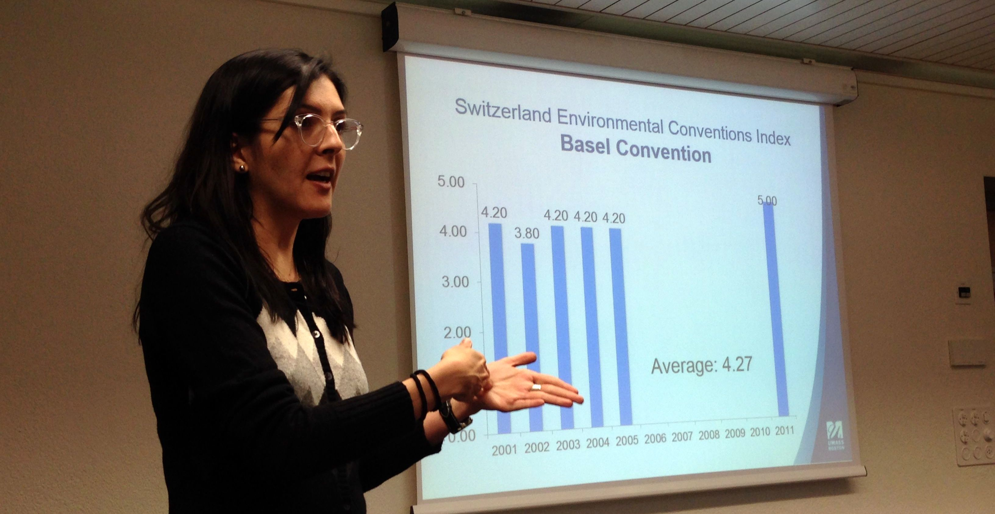 McCormack Grad student delivers presentation on global environmental conventions