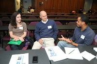 Conflict Resolution alumni at table discussion