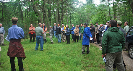 Foresters explain the details of forestry during