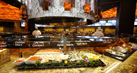 The buffet at Seasons, Mohegan Sun.