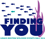 Graphic says Finding You: UMass Boston Welcome Events Fall 2016