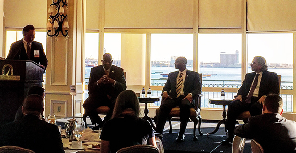 Chancellor J. Keith Motley participated in a Boston Business Journal panel discussion on the Boston economy Thursday.