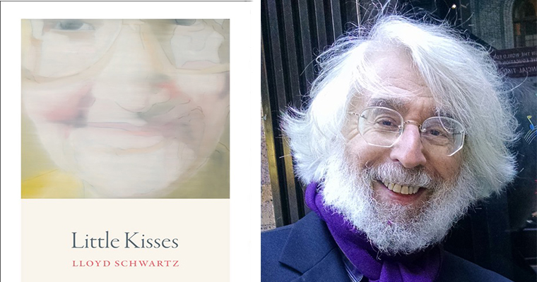 The cover of Lloyd Schwartz's new book on the left and a picture of Schwartz on the right