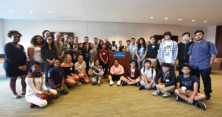 Mayor Walsh and Chancellor Mills Meet with Freshmen Scholarship Recipients