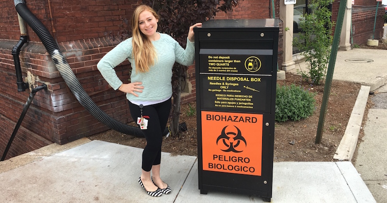 UMass Boston Nursing Student Has New Strategy for Safe Needle Disposal