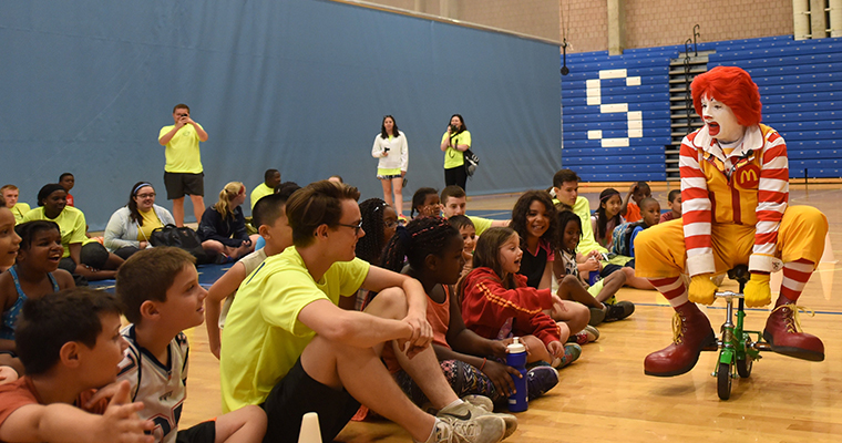 Ronald McDonald Visits Camp Shriver at UMass Boston and Presents $60K Grant