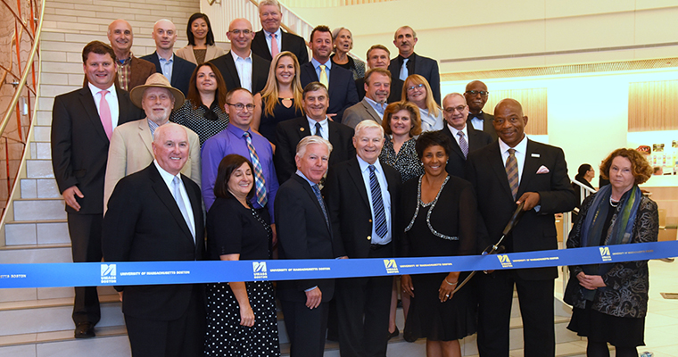 UMass Boston Celebrates Ribbon Cutting at University Hall