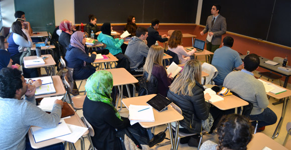 Students in Professor Muhammad Masud's Imagining the Modern Middle East class are exposed to different types of literature.