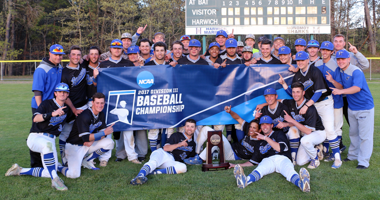 The UMass Boston Beacons are the NCAA Division III Baseball New England Regional champions.