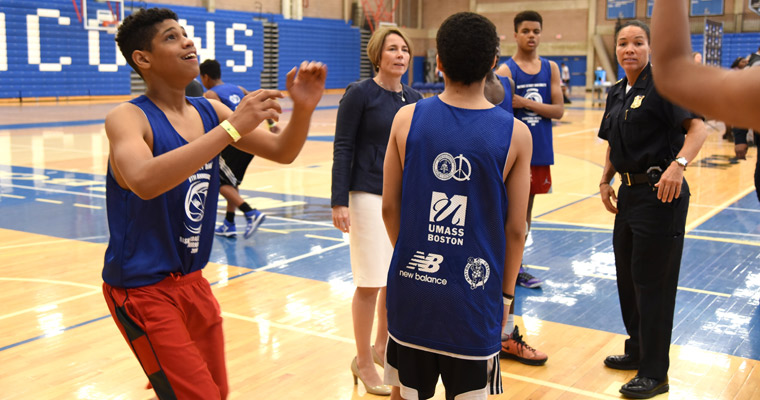 UMass Boston Hosts District Attorney Dan Conley's 8th Annual Basketball For Peace Tournament