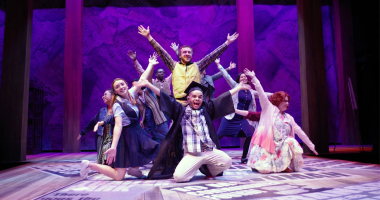 The cast of Bat Boy: The Musical