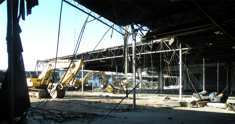 Former Bayside Expo Coming Down