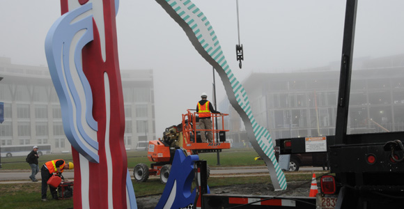Lichtenstein Sculpture Moved Off Campus