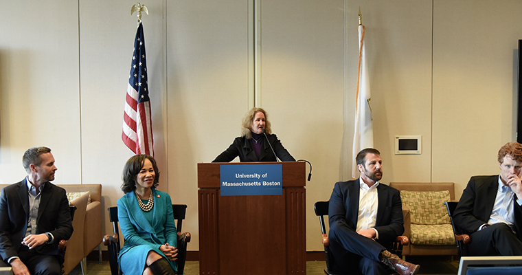 Members of Congress Visit UMass Boston to Talk Bipartisan Cooperation on Capitol Hill