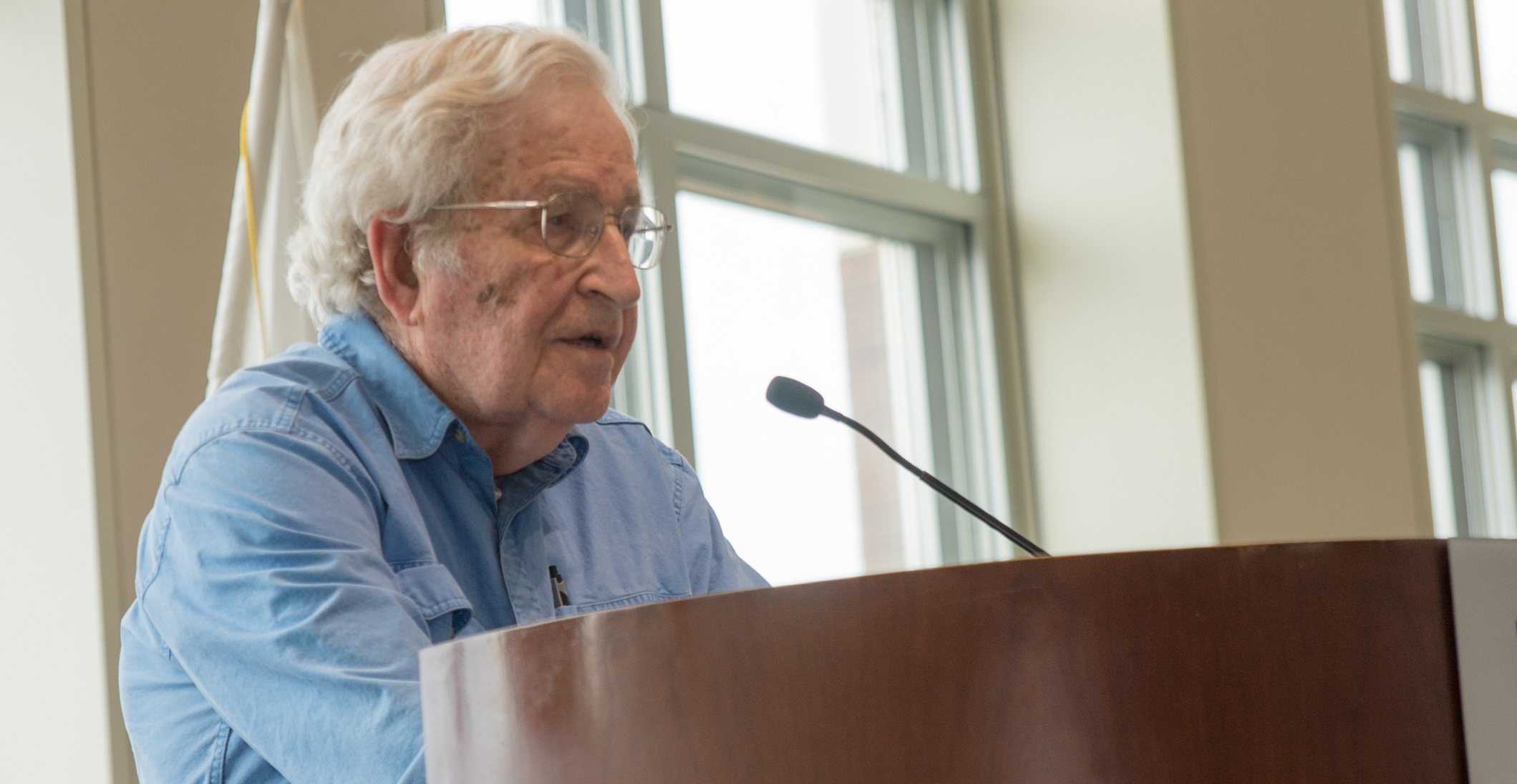 Noam Chomsky at UMass Boston