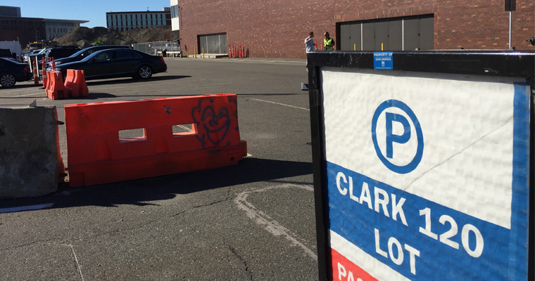 The Clark Lot will no longer be available for parking starting Monday, June 26.