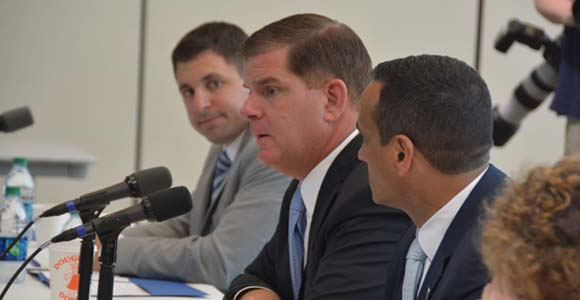 Mayor Walsh at the climate summit