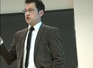 Picture of professor in classroom