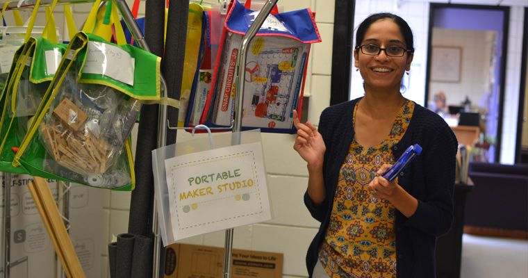Tej Dalvi and her portable Maker Studio