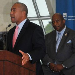 Governor Deval Patrick made the announcement on Tuesday