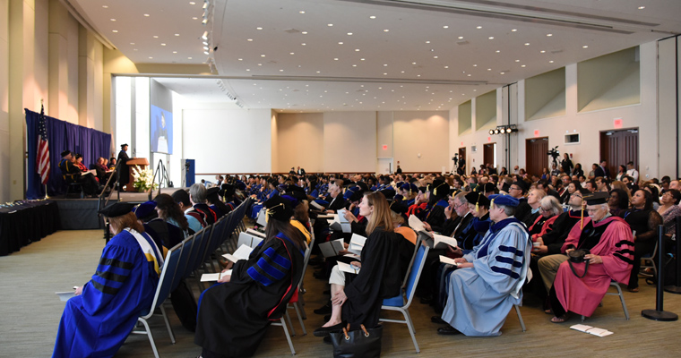 Students Honored at Doctoral Hooding Ceremony