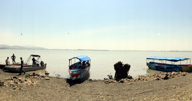 The trip included a stop at Lake Ziway in the Central Rift Valley.