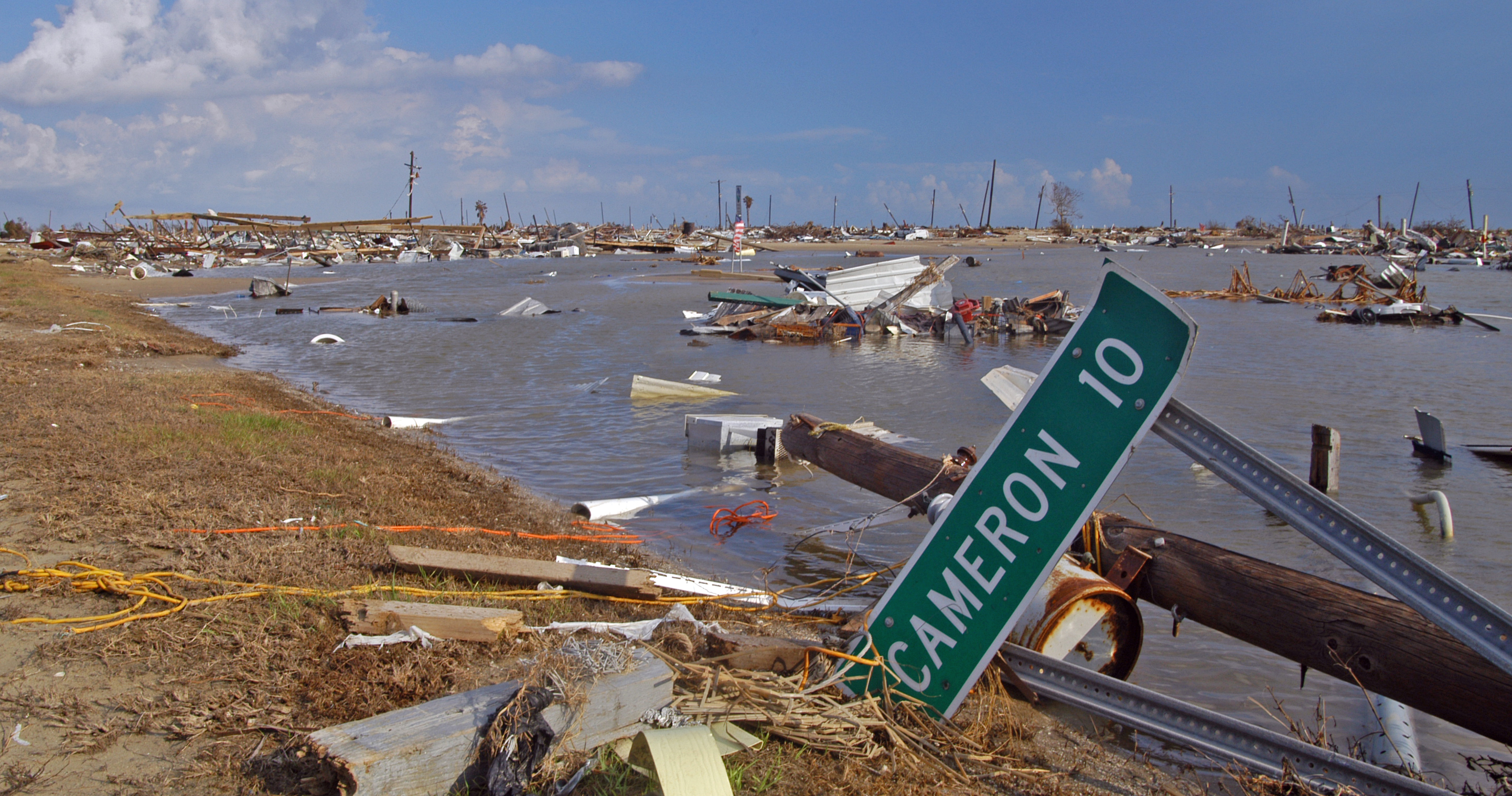 Holly Beach, LA, after Hurricane Rita