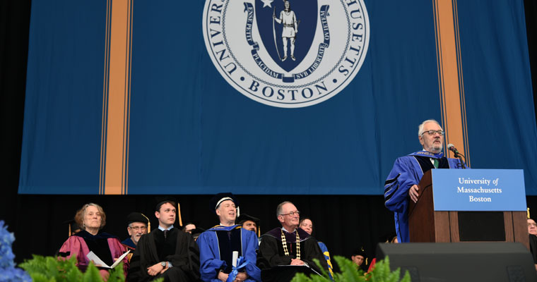 Former Rep. Barney Frank Urges Society to Do Better at UMass Boston Graduate Commencement
