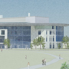 Rendering of General Academic Building No. 1