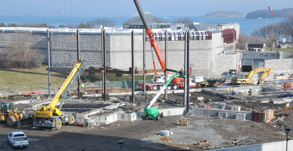 Steel Rising on General Academic Building No. 1