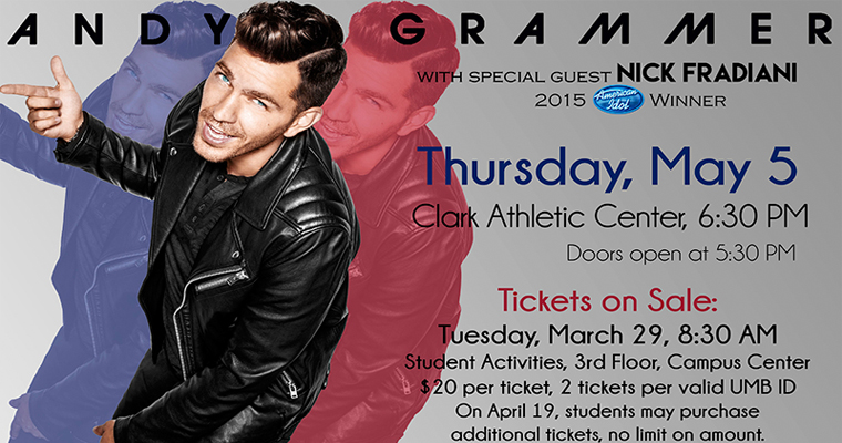 Pop Star Andy Grammer to Perform at Spring Concert May 5