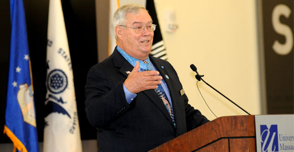 UMass Boston Welcomes Medal of Honor Recipient to Campus