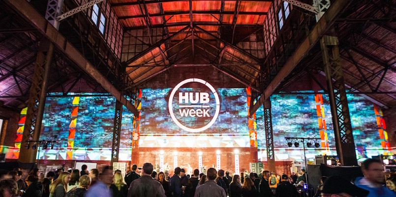 The main stage of HUBWeek.