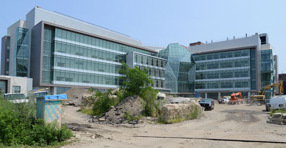 UMass Boston is completing work on its first LEED Silver-certified building, the Integrated Sciences Complex.