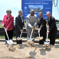 Groundbreaking ceremony for the Integrated Sciences Complex