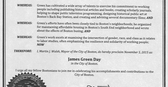 James Green Day proclamation