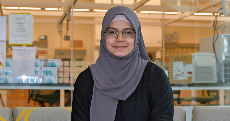UMass Boston junior Urwah Kanwal is the 2019 winner of the John W. Ryan Award.