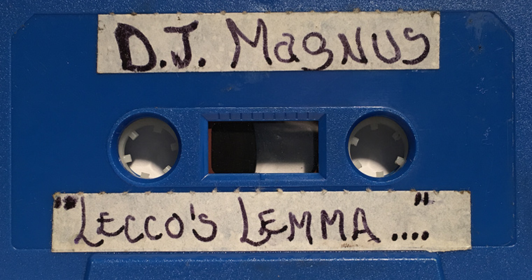 A cassette tape from the Lecco's Lemma collection
