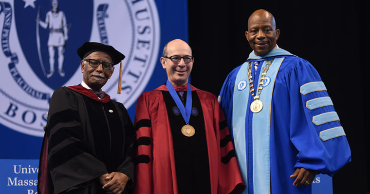 Professor of Management and Marketing David L. Levy was one of three faculty members honored at Friday's commencement.