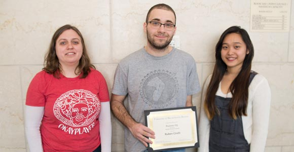 Rebecca Linton, Ruben Circelli, and MinhThu Nguyen were recognized for their entries in the 2015 Twitter Poetry Contest.