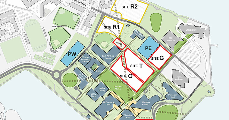 The garage will be located on master plan site PW, which is on the bluff opposite the Integrated Sciences Complex.