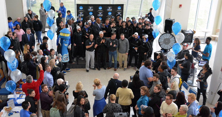 UMass Boston Community Sends Men's Hockey Off to the NCAA Frozen Four