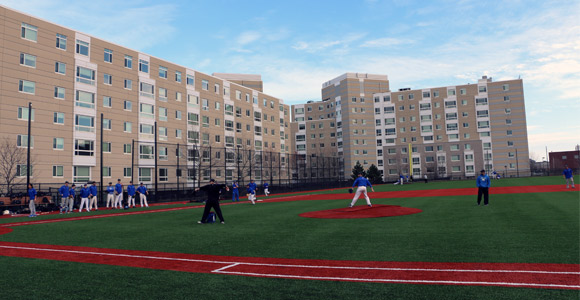 Beacons Baseball Team Practices in New Monan Park for the First Time